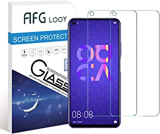 AFGLOOY 2Pack, Screen Protector Compatible with Huawei Nova 5T/Honor 20, Tempered Glass for Huawei Nova 5T, 9H Hardness, Scratch Resistant, Anti Bubble