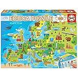 Educa- Mapa Europa Puzzle infantil de 150 piezas, a partir de 6 años (18607)