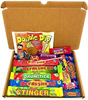Retro Sweets Mini Selection Box: Box of 18 Childrens Sweets, Sweet Box for Birthdays, Party's, Pinata Fillers: Letterbox...