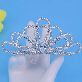 SUIWO Principessa Gemme Corona Gemme Strass Tiara Kid Girl Prom Birthday Princess Party con borchie Zircon Accessori per C...