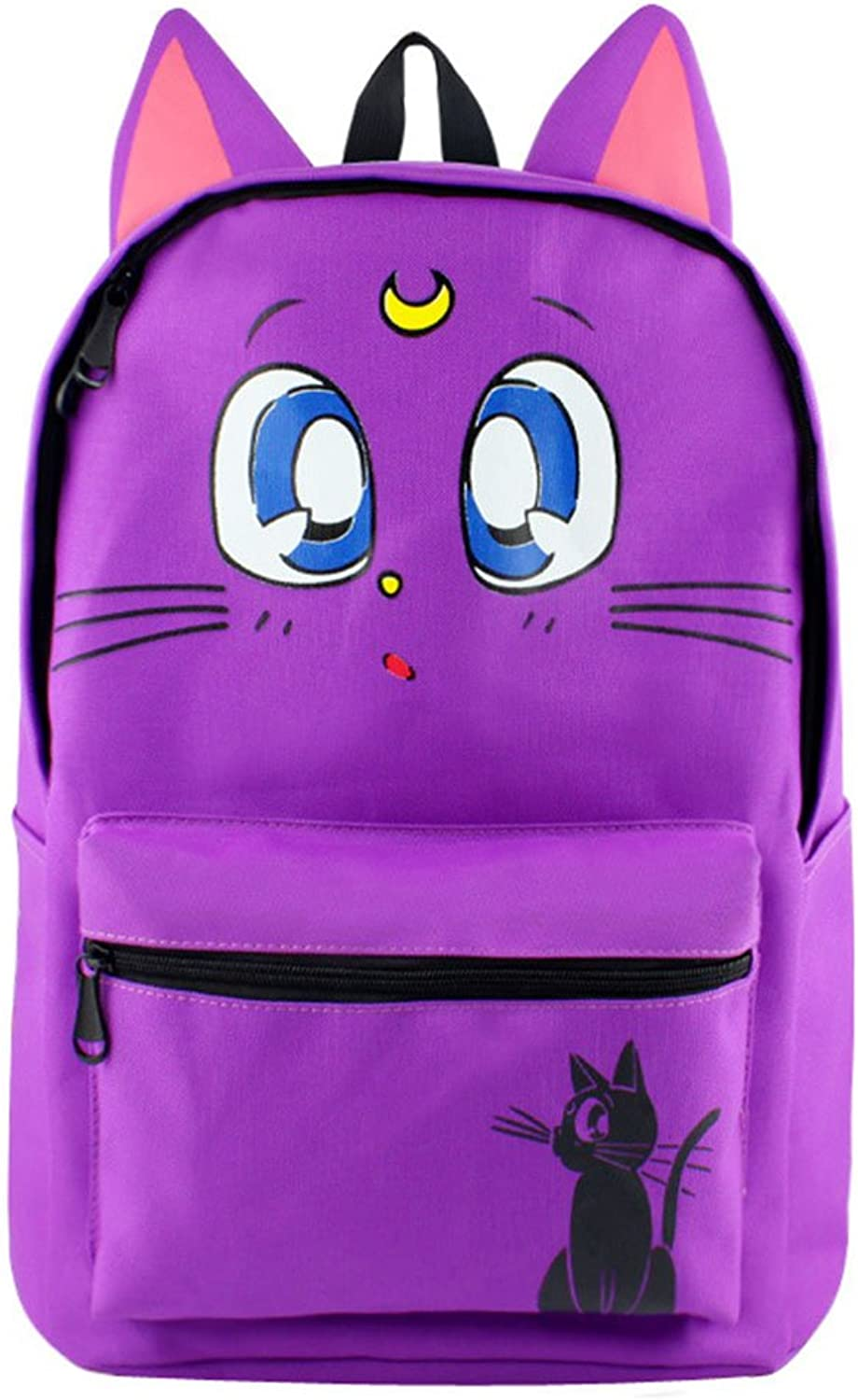 Gumstyle Anime Sailor Moon Canvas Backpack with Ears Rucksack Schoolbag Shoulder Bag for Boys and Girls
