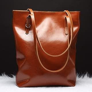 Single Shoulder Leather Crossbody Handbag Trend Ladies Handbag Handbag Female Bag Handbags (Color : Brown)