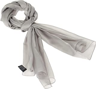 Chiffon scarf women - Sheer lightweigt solid neck evening bridal head scarf shawl