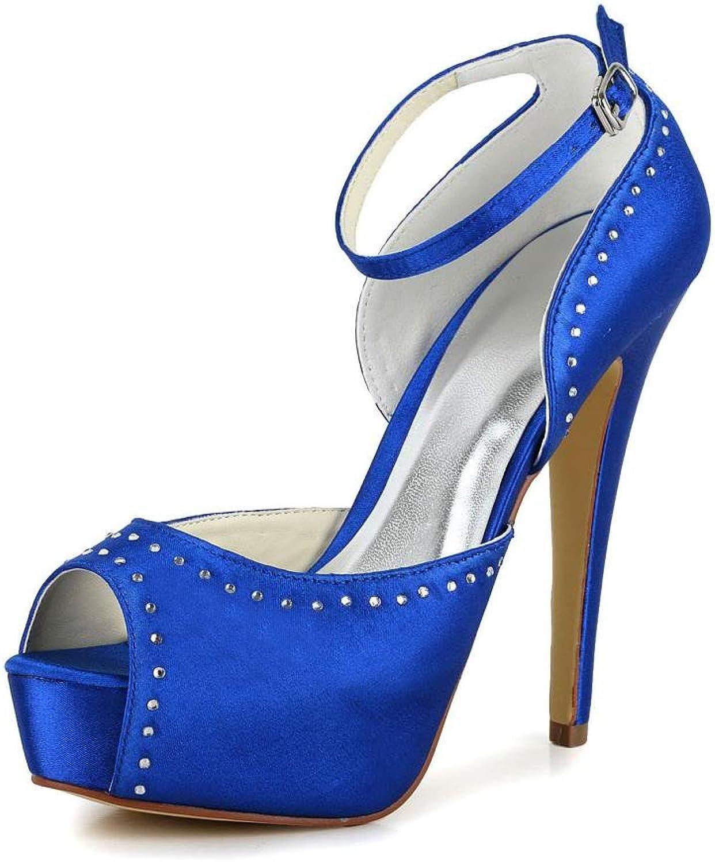 Jia Jia Women's Bridal 20120 Peep Toe Stiletto Heel Satin Wedding shoes