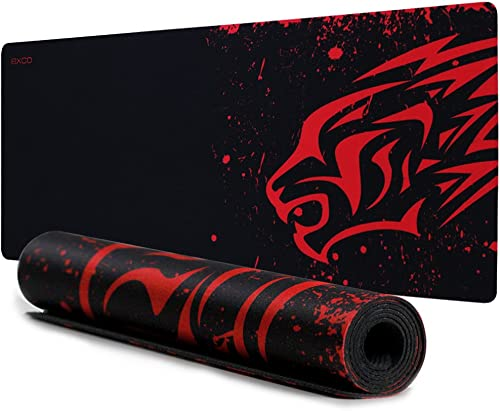 Extended Large Gaming Mouse Pad XL Thick Non-Slip Rubber Base Mouse pad Mice Smooth Cloth Surface Keyboard Mouse Pads...