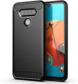 LG K51 Case, Slim Soft TPU Anti-Fingerprint,Anti-Scratch & Non-Slip Protective Phone Case Cover for LG K51 (Black)