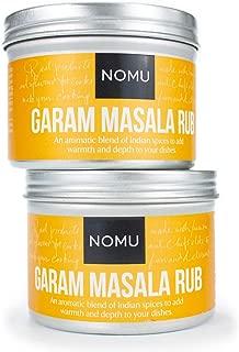 NOMU Garam Masala Seasoning Rub (2-Pack | 3.5oz) - Blend of 10 Premium Herbs and Spices - Paleo, Vegan, Non-Irradiated, No MSG or Preservatives