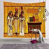 PPOU Estilo Egipcio Tapiz Colorido Colgante de Pared Mandala Faraón Colcha Lanzamiento Hippie Cubierta Arte Fondo Decoración de Pared A8 150x200cm