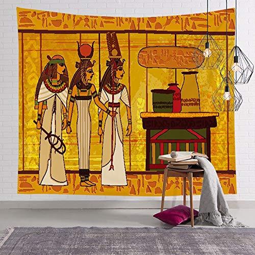 Tapiz de faraón egipcio antiguo pintura famosa pirámide colgante de pared pirámide mural egipcio tela de fondo A8 180x200cm