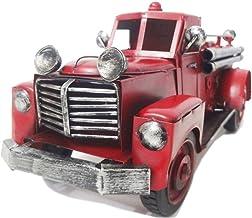 Caminhão de Bombeiro de Metal Decoração Vintage + Chaveiro - 35cm