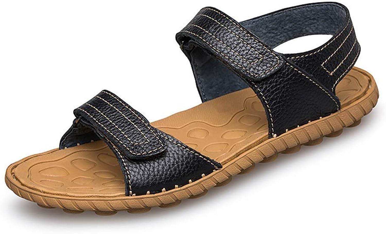 BAIF Sandalen Einfache Einfache leichte Bequeme Klettverschlüsse im Freien Wasserschuhe Herren Sommerschuhe (Farbe  Schwarz, Größe  8,5 UK)  After-Sale-Schutz