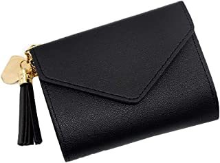 Bestmaple Small Wallet for Women Ultra Slim Pu Leather Credit Card Holder Clutch Wallets for Girl