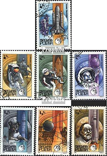 Prophila Collection Ungarn 3557A-3563A (kompl.Ausg.) 1982 Weltraumfahrt (Briefmarken für Sammler) Weltraum