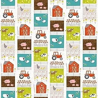 Wildflower Farm Patchwork Stripe Cotton Fabric by Studio E Fabrics