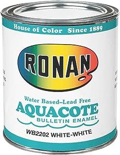 Ronan Aquacote Enamel 8 Oz White-White