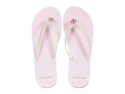 Tory Burch Mini Minnie Flip-Flop (New Ivory/Preppy Pink/Preppy Pink) Women
