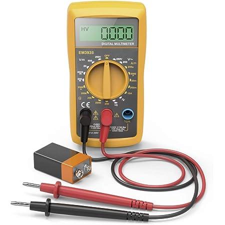 Neoteck Auto Digital Multimeter Ac Dc Spannung Strom Widerstand Multi Tester Voltmeter Amperemeter Ohmmeter Ampere Meter Mit Lcd Display Mit Hintergrundbeleuchtung Auto