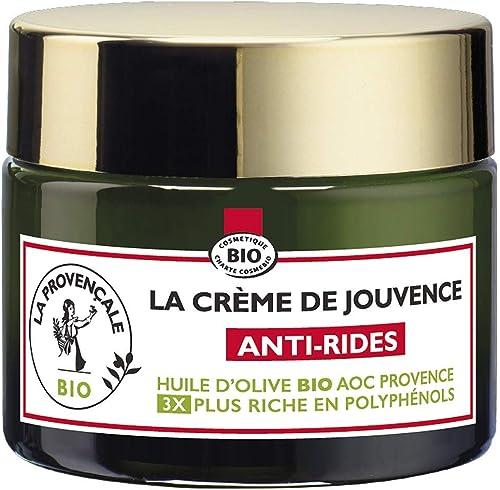 La Provençale – La Crème de Jouvence Anti-Rides – Soin Visage Certifié Bio – Huile d'Olive Bio AOC Provence – Pour To...
