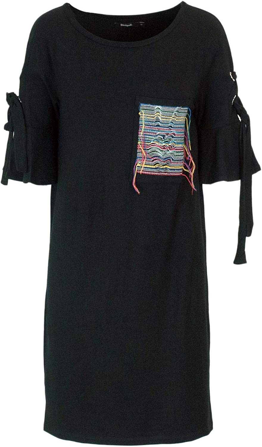 Desigual Women's 18WWVKA7BLACK Black Viscose Dress