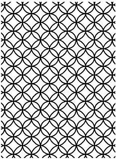 Darice 1218-69 Embossing Folder, 4.25 by 5.75-Inch, Circle Interlock Design