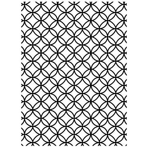 Darice 1218-69 Embossing Folder-Classeur de Gaufrage-Modèle Cercles Enchevêtrés-10,8 x 14,6 cm, Plastique, Transparent, 10,8 x 14,6 x 0,3 cm