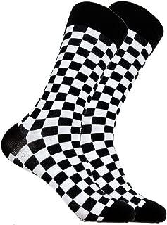 SOCKZ-72 - Mens Designer Checkered Cotton Socks