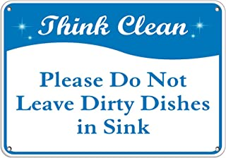 Best no dishes in the sink sign Reviews