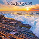 Maine Coast 2021 12 x 12 Inch Monthly Square Wall Calendar, USA United States of America Northeast State Ocean Sea Nature
