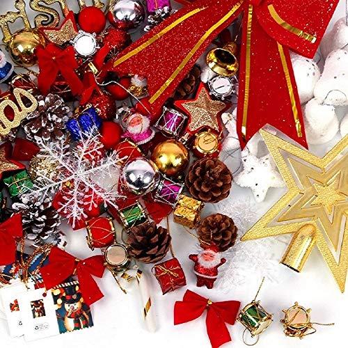 TATAANTY 101 Piece Christmas Tree Ball, Xmas Tree Ornaments Set, Shatterproof Decorative, Seasonal Decorations, Balls for Holiday and Party Set