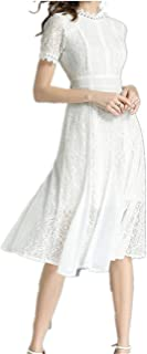 Summer Women's Dress Lace Chiffon Splicing Large Dress