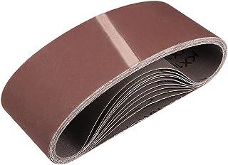 """3""""x 18"""" 400 kornslipbälte Aluminiumoxid sandpappersbälten för bärbar rems slipmaskin träfinish metall gips polering slipni..."""