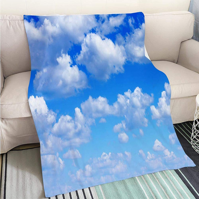BEICICI Art Design Photos Cool Quilt bluee Sky Fun Design AllSeason Blanket Bed or Couch