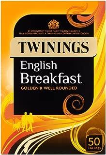 Twinings English Breakfast Tea Bags - 50's - Pack of 4 (50's x 4)