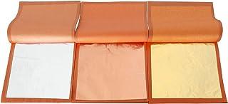 VGSEBA Imitation Gold Leaf - Gold Leaf Rose Gold Foil Sheets Aluminum Foil Paper 25 Sheets/Booklet Multipurpose for Handcr...