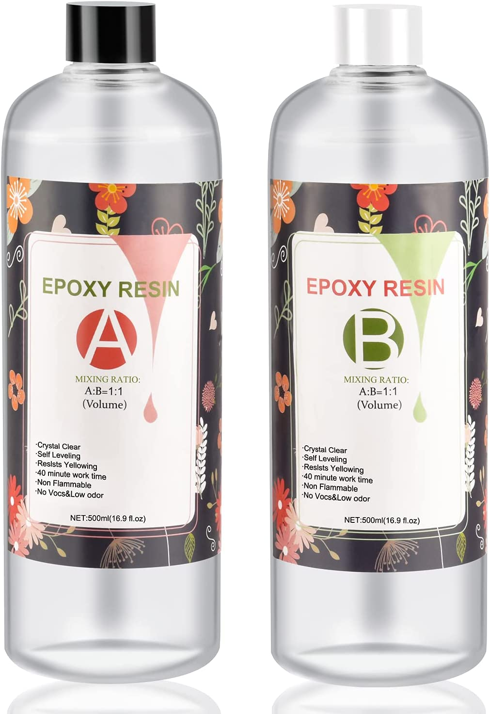 Epoxy Resin Kit 33.8 OZ Crystal 2021 spring and summer new Glue Don't miss the campaign Clear with AB