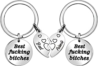 for Women, 2 Pcs Best Friend Keychains Friendship Gifts Birthday Gifts