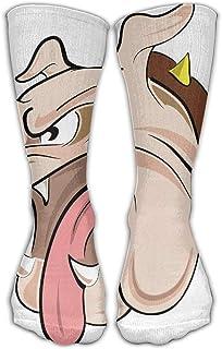 Bigtige, Feroz Bulldog Francés Blanco Clásicos Calcetines personalizados Calcetines deportivos deportivos Calcetines largos de 50cm para hombres Mujeres