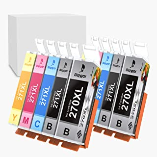 Bigger Compatible Ink Cartridge Replacement for Canon PGI-270XL CLI-271XL PGI 270 XL CLI 271 XL to use with PIXMA MG5720, MG6820, MG7720, TS6020 (PGBK, Black, Cyan, Magenta, Yellow, 10-Pack)