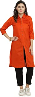 INDIBELLE Rust Cotton Pathani Style Formal Kurta with Ankle Length Trouser