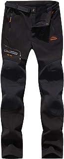BenBoy Women's Outdoor Waterproof Windproof Fleece Slim Cargo Snow Ski Hiking Pants