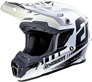 Answer Racing AR-1 Youth Boys Off-Road Motorcycle Helmets - Black/White/Medium