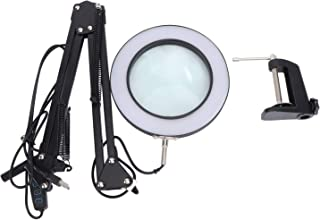Hemobllo LED Magnifying Lamp - Magnifying Glass LED Desk Lamp for Close Work 5X Magnifier Lighted Lens Facials Lash Extens...