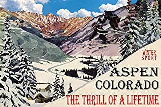WINTER SPORT ASPEN COLORADO THE THRILL OF A LIFETIME COUPLE SKI JUMPING SKIING TRAVEL 20