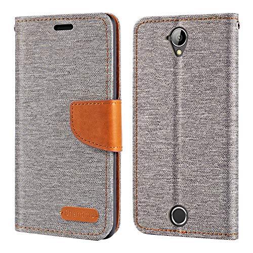 Acer Liquid Z330 Hülle, Oxford Leder Wallet Hülle mit Soft TPU Back Cover Magnet Flip Hülle für Acer Liquid Z330