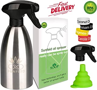 SUNFEID Olive Oil Sprayer Mister Stainless Steel Cooking Oil Dispenser Spray Olive Oil Sprayer for Air Fryer