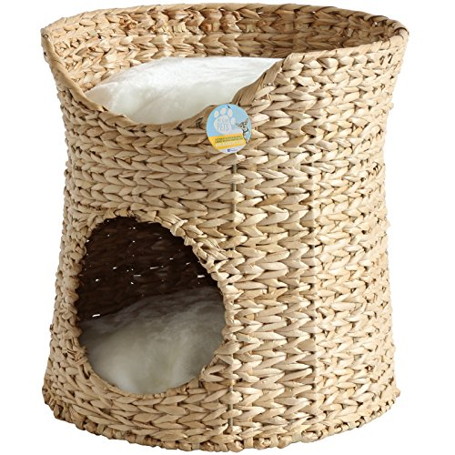 Me & My Pets Woven Seagrass Double Cat Bed