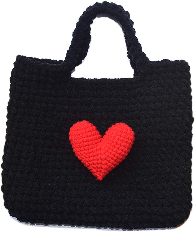 Small Crochet Top Handle Bag Handmade Handbag Women Girl Tote Organizer Sling Bag Crocheted Hippie Purse Phone Pouch