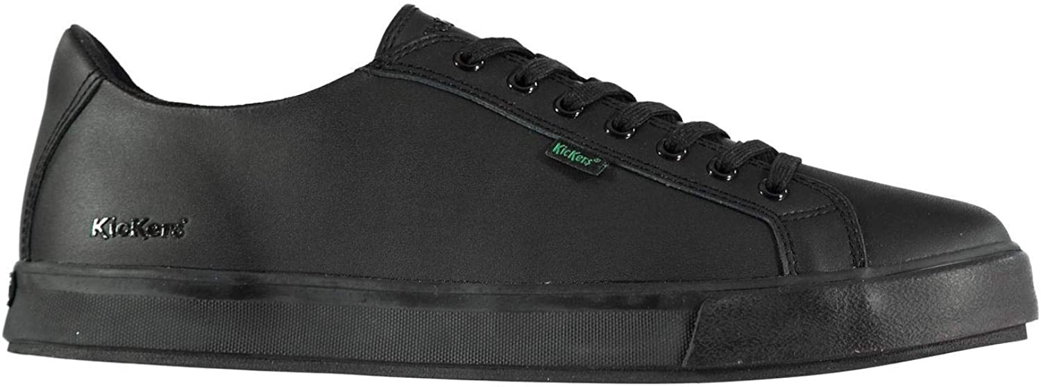 Kickers Tovni Leather Trainers Mens Black Fashion Sneakers Casual shoes Footwear
