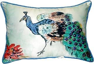 "Betsy Drake SN924 Betsy's Peacock Pillow, 11"" x14"""