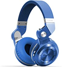 Bluedio T2s Bluetooth Headphones On Ear with Mic, 57mm Driver Rotary Folding Wireless Headset, Wired and Wireless Headphones for Cell Phone/TV/PC, 40 Hours Play Time (Blue)